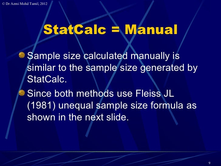 how to calculate sample size in cross sectional study