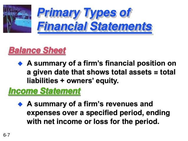 Financial Statement Types Financial Statement AnalysisFin