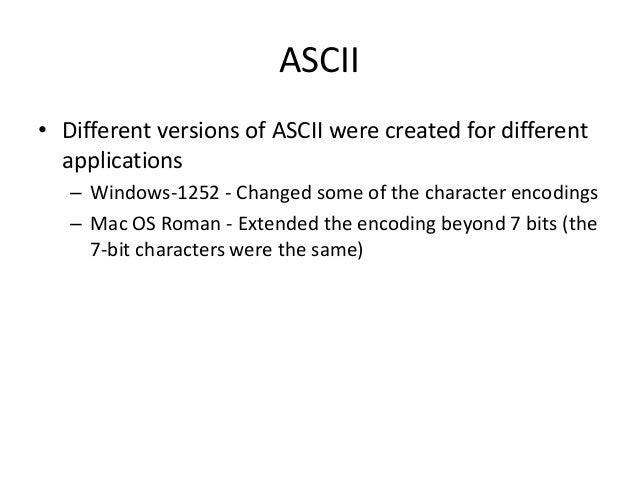 4 character encoding-ascii Slide 3