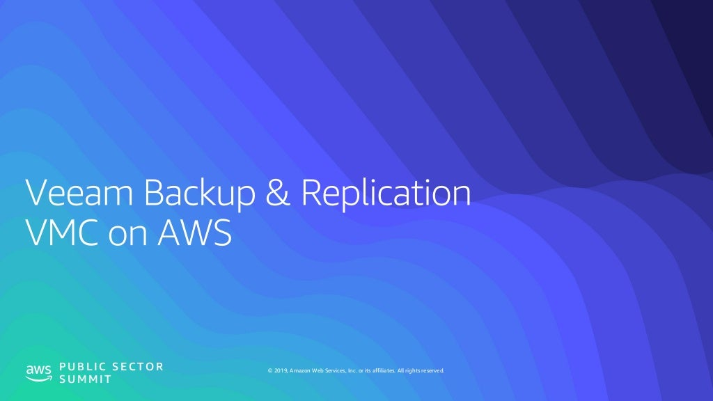 Cloud Data Management with Veeam, N2WS, & AWS