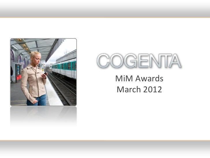 MiM AwardsMarch 2012