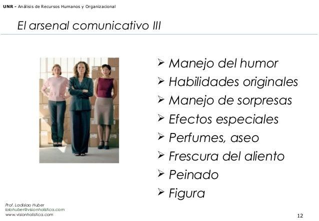 UNR - Análisis de Recursos Humanos y Organizacional  El arsenal comunicativo III  Manejo del humor  Habilidades original...