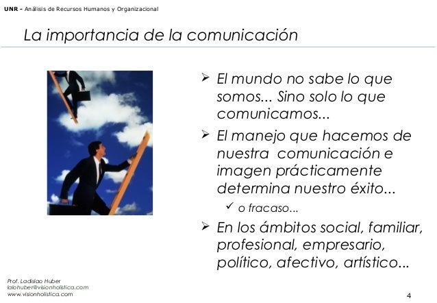 UNR - Análisis de Recursos Humanos y Organizacional  La importancia de la comunicación  El mundo no sabe lo que  somos......