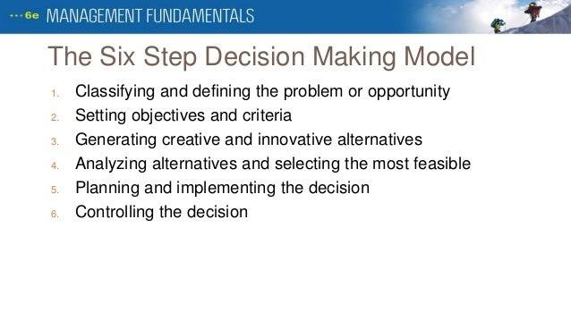 six steps of problem solving