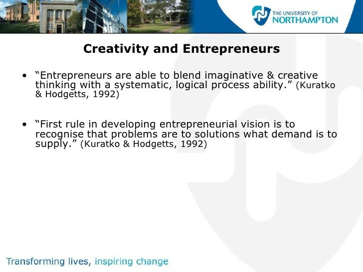 Creativity and innovation Slide 3