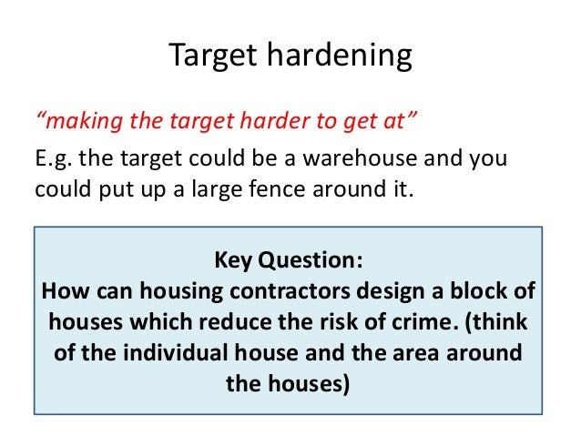 Crime And Target Hardening