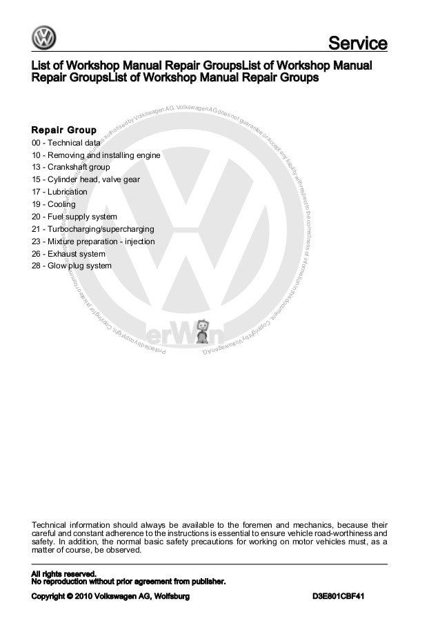 volkswagen touran service manual