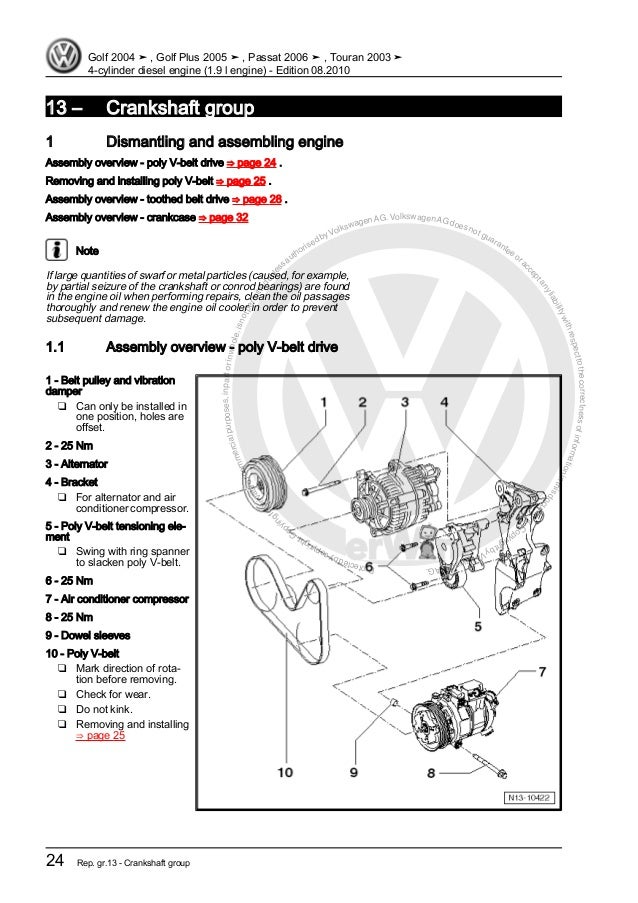 [DIAGRAM_5NL]  4 cylinder diesel engine (1.9 l engine) VW | 1 9 Tdi Engine Diagram |  | SlideShare