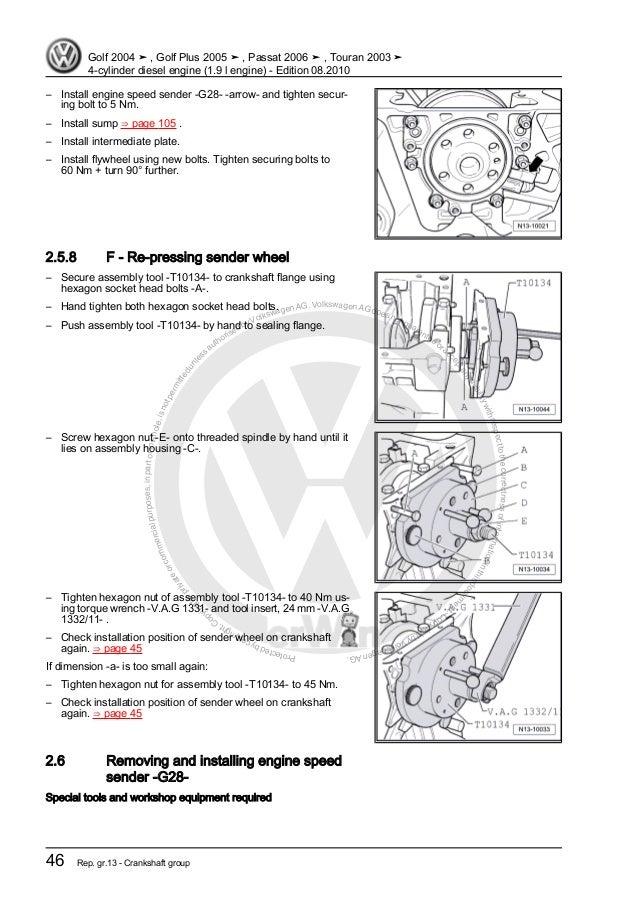 4 cylinder diesel engine 1 9 l engine vw rh slideshare net