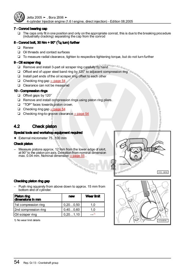 4 cylinder injection engine (1 6 l engine, direct injection) blf