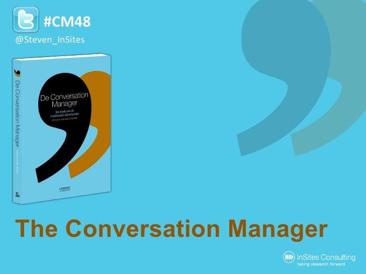 The Conversation Manager by Steven Van Belleghem @Steven_InSites #CM48