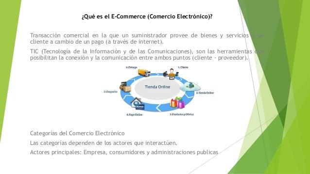 ¿Qué es el E-Commerce (Comercio Electrónico)? Transacción comercial en la que un suministrador provee de bienes y servicio...