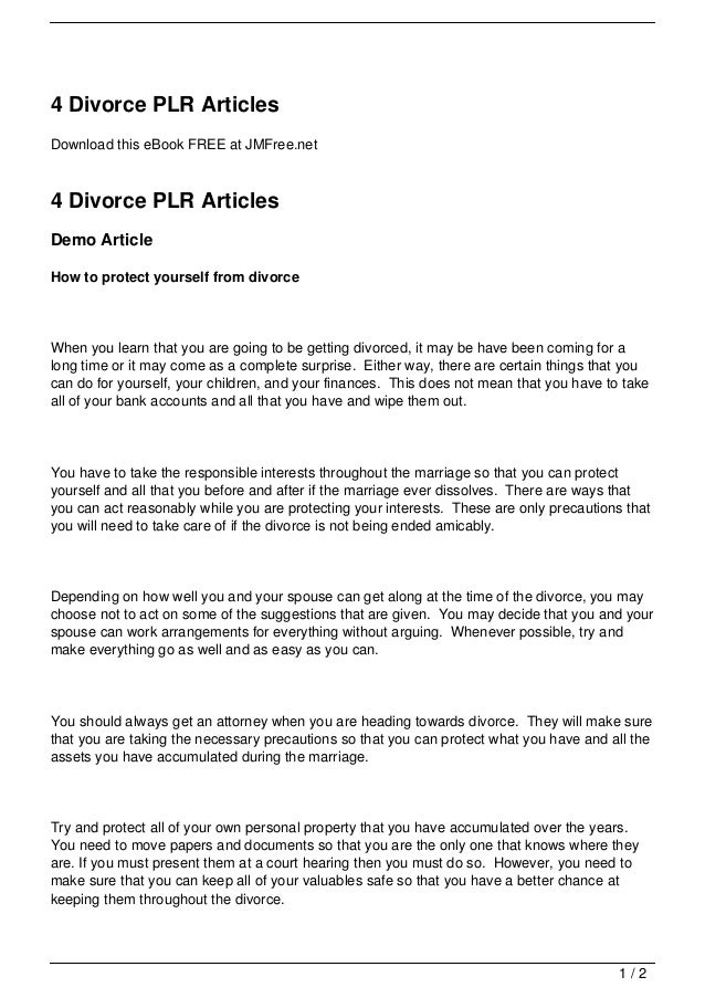 4 divorce plr articles 1 638gcb1356997823 4 divorce plr articlesdownload this ebook free at jmfree4 divorce plr articlesdemo articlehow to solutioingenieria Gallery