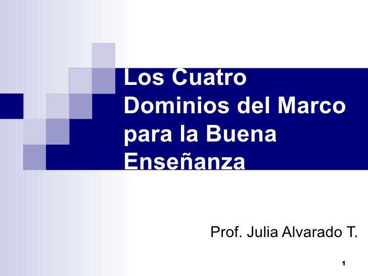 4 Dominios Marco Buena Enseñanza 07
