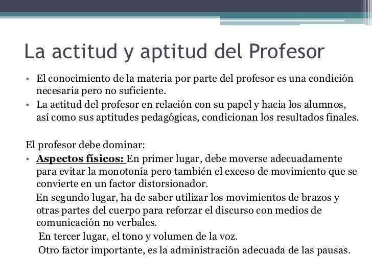 profesor aptitud