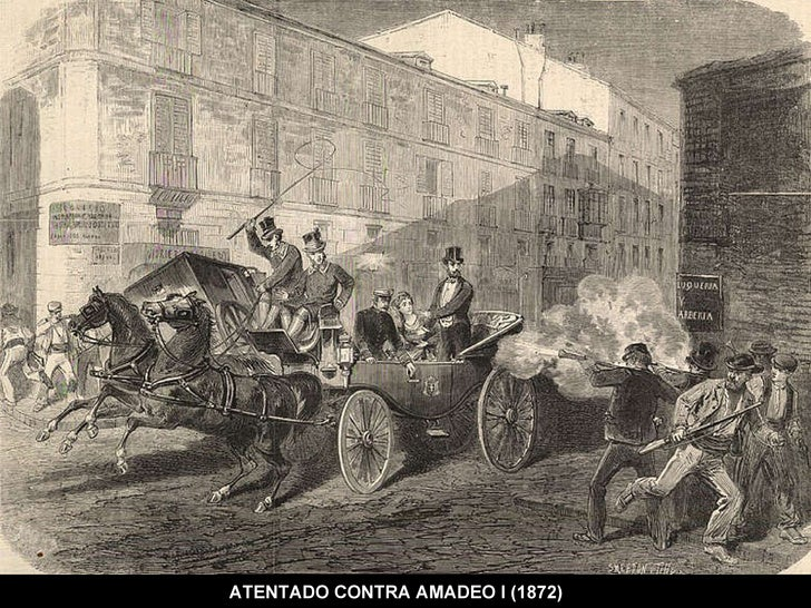 ATENTADO CONTRA AMADEO I (1872)