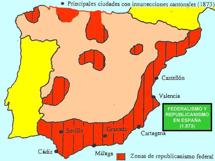 FEDERALISMO Y REPUBLICANISMO EN ESPAÑA (1.873)