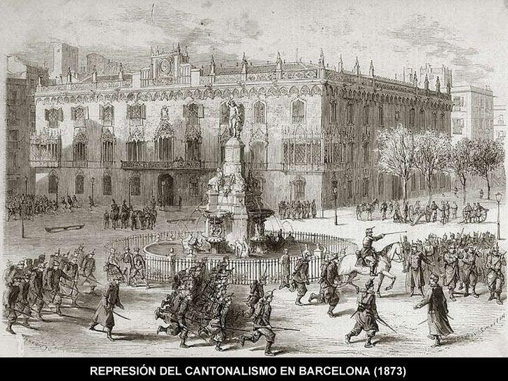 REPRESIÓN DEL CANTONALISMO EN BARCELONA (1873)