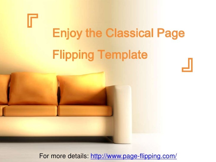 『   Enjoy the Classical Page    Flipping Template                                                  』For more details: http...