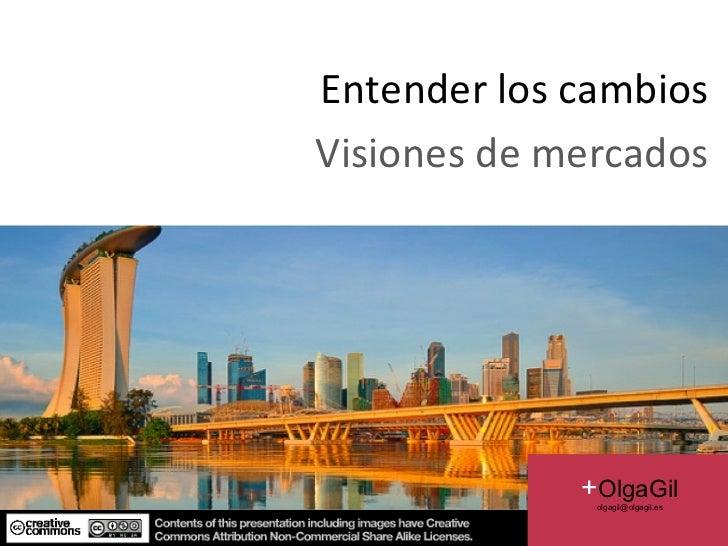 Entender los cambios Visiones de mercados Image:  FIFTYMM69 EN FLICKR  2011 + OlgaGil [email_address]