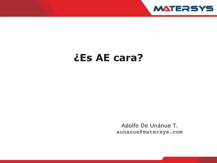 ¿Es AE cara?              Adolfo De Unánue T.        aunanue@matersys.com