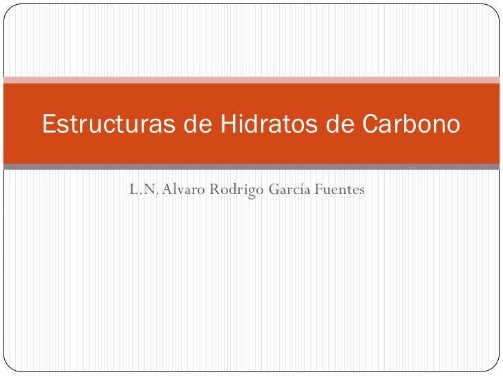 Estructuras de Hidratos de Carbono       L.N. Alvaro Rodrigo García Fuentes