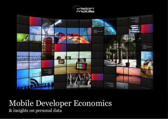 Mobile Developer Economics& insights on personal data