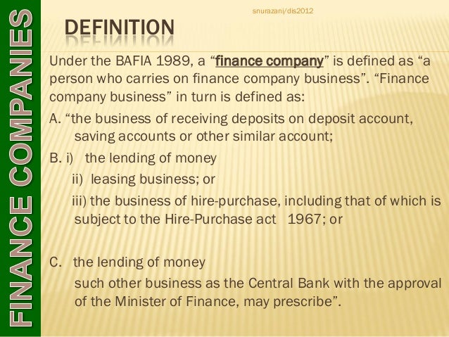 chapter 4 finance companies and investment banks – Define Business Investment