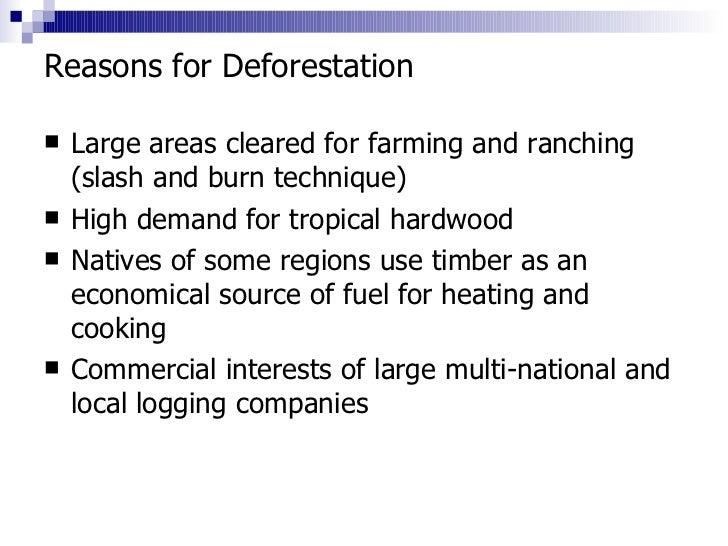 4. forestry distrubtion and deforestation