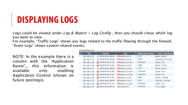 FortiGate Firewall HOW-TO - Logging
