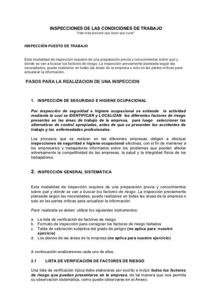 4 fr inspecciones de puestos de trabajo pfr - Puestos de trabajo ...