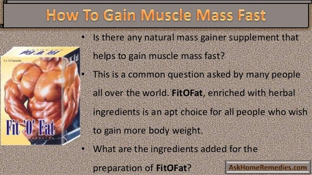 Best supplements to gain mass fast
