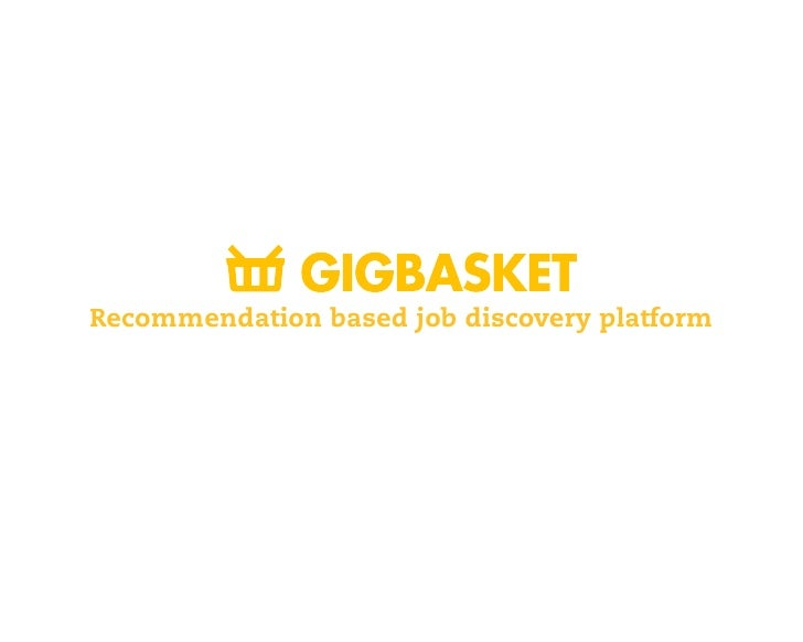 Recommendation based job discovery platform