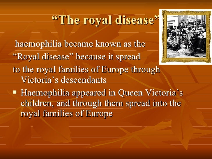 4. Haemophilia And Royal Families