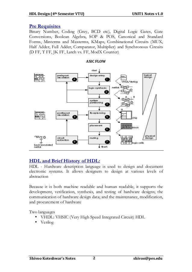 4Sem VTU-HDL Programming Notes-Unit1-Introduction