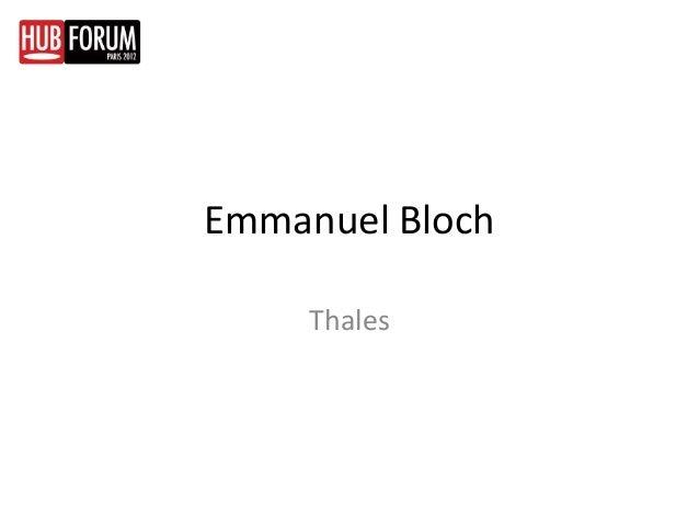 Emmanuel Bloch     Thales