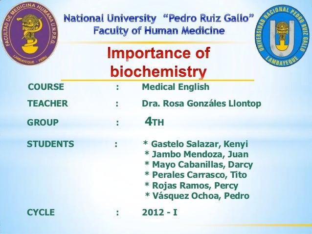 4 importance of biochemistry
