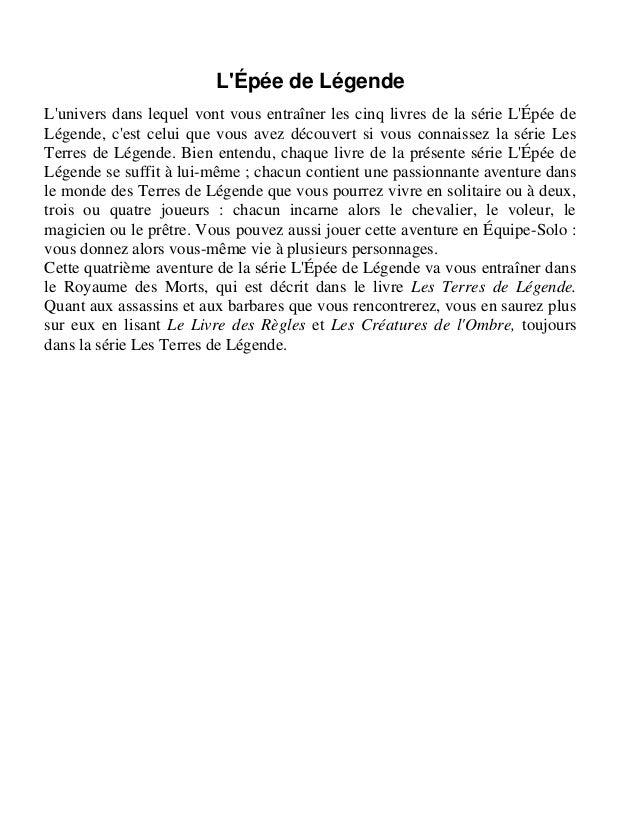 Dave Morris et Oliver Johnson L'Impossible Mission L'Épée de Légende/4 Traduit de l'anglais par Yannick Surcouf Illustrati...