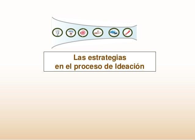 Las estrategias en el proceso de Ideación