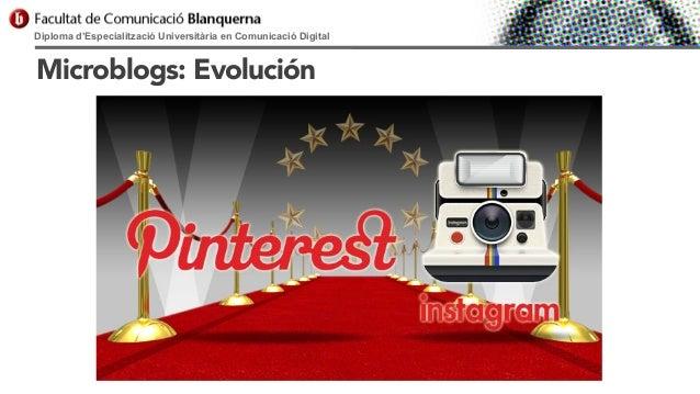 Diploma d'Especialització Universitària en Comunicació Digital  Microblogs: Evolución