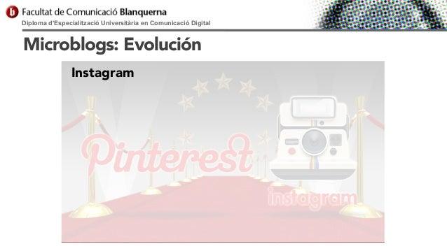 Diploma d'Especialització Universitària en Comunicació Digital  Microblogs: Evolución Instagram
