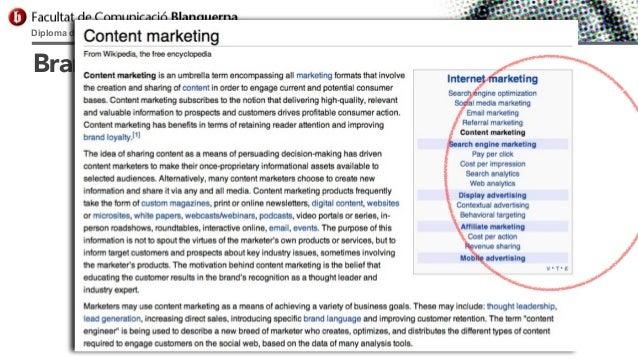 Diploma d'Especialització Universitària en Comunicació Digital  Branded Content