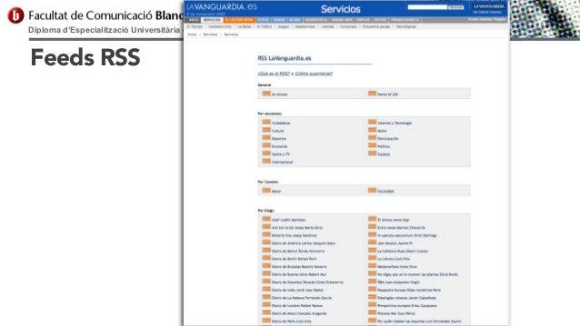 Diploma d'Especialització Universitària en Comunicació Digital  Feeds RSS