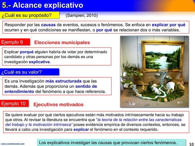 4.- ALCANCE CORRELACIONAL 10www.coimbraweb.com Los correlacionales determinan cómo se relacionan las variables. ALCANCE CO...