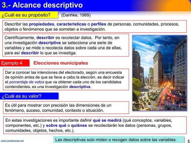 2.- ALCANCE EXPLORATORIO 5www.coimbraweb.com ¿Cuál es su propósito y su valor? Los exploratorios investigan fenómenos desc...