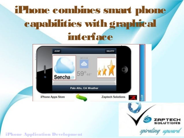 iPhone combines smart phone     capabilities with graphical              interface                          Powerpoint Tem...