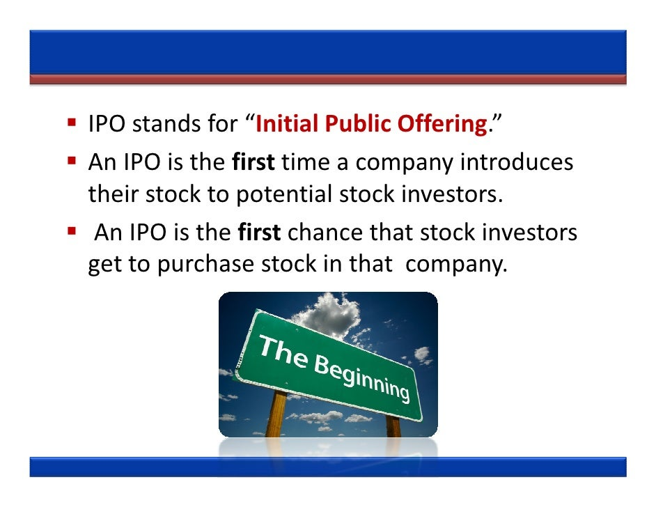 Ipo market stands for