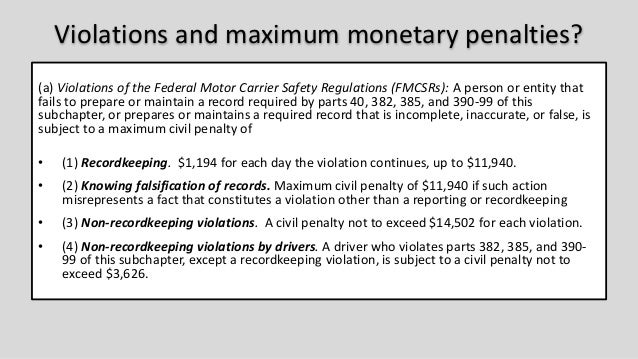 2016 crw the eld mandate the time has come for Who is subject to federal motor carrier safety regulations