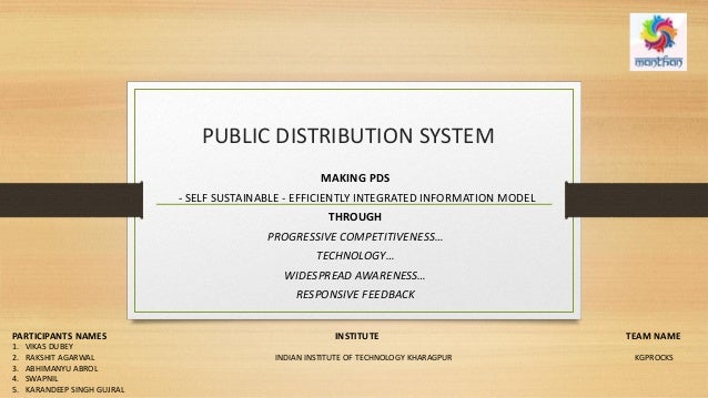 PUBLIC DISTRIBUTION SYSTEM MAKING PDS - SELF SUSTAINABLE - EFFICIENTLY INTEGRATED INFORMATION MODEL THROUGH PROGRESSIVE CO...