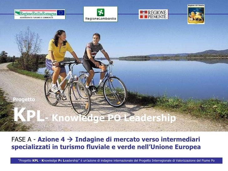 Progetto K PL - Knowledge PO Leadership FASE A -  Azione 4    Indagine di mercato verso intermediari  specializzati in tu...